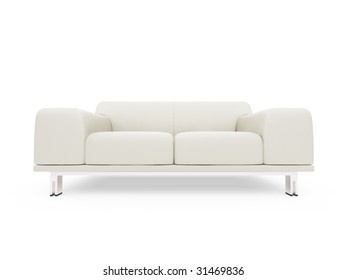 isolated sofa over white background