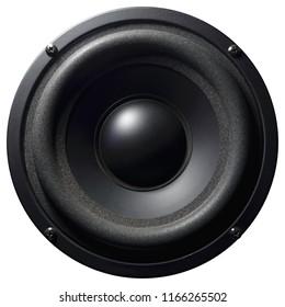 Isolated sound speaker on white background