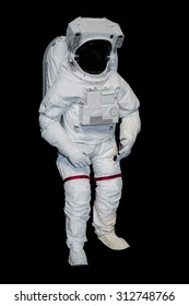 Isolated Space Suit on Black