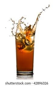 isolated splash of cola