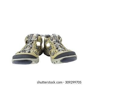 Isolated sport sandals on white with clipping path