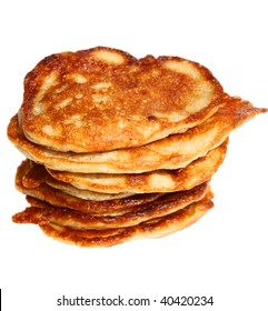 isolated stack of pancakes