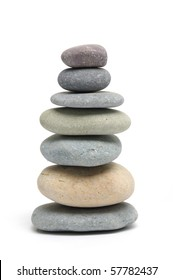 isolated Stacked stones