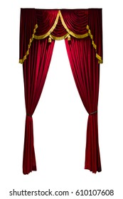 isolated stage curtain