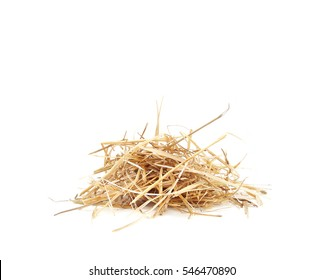 isolated Straw Dry hay