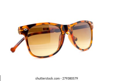 Isolated Sun glasses on a white background.