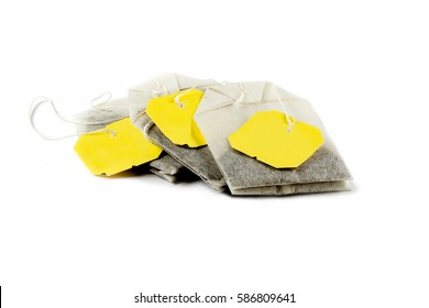 Isolated tea bags
