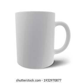 Isolated Tea or Coffee Mug in White Color.