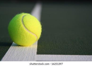 Isolated Tennis ball on the court