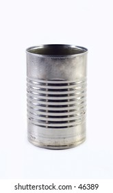An isolated tin can.