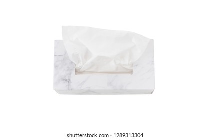 Isolated tissue paper box on white background