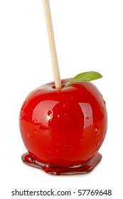 isolated toffee apple