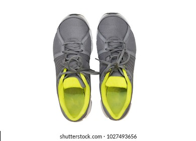 isolated  top view of sport shoes