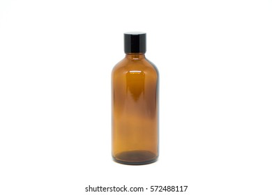 isolated transparent brown jar for cosmetic and car care packaging