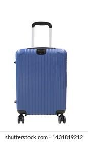 isolated travel luggage on white background