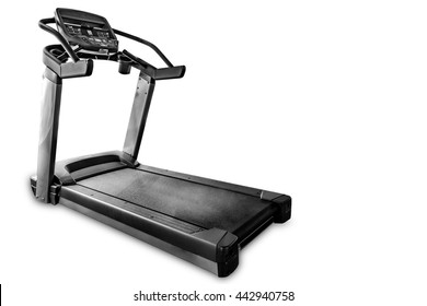 Isolated treadmill on white background. Sport and fitness concept