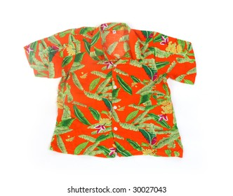 isolated tropical shirt on white