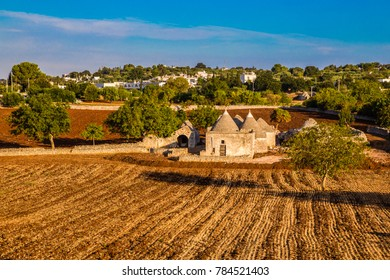 Isolated Trulli House During Sunset - Alberobello, Apulia Region, Italy, Europe