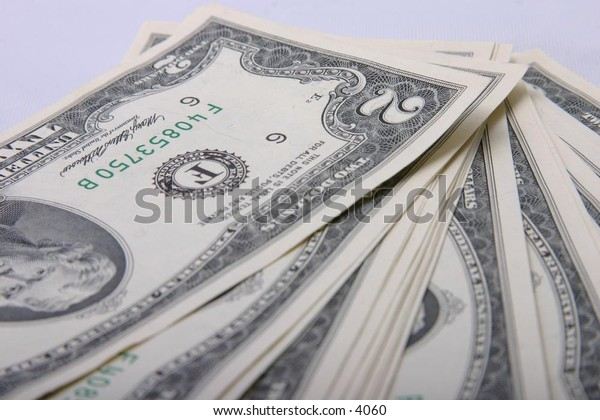 isolated two-dollar American bills