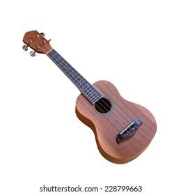 isolated ukulele on white background