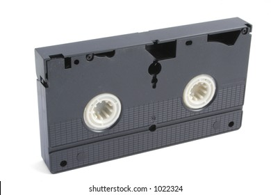 isolated VHS tape on white