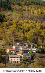 An isolated village on the Cévennes mountains, in autumn