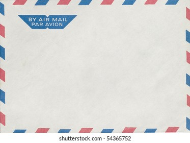 isolated vintage air mail envelope