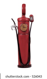 Isolated VIntage Gas Pump - Clipping Paths Included