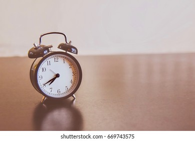 Isolated Vintage Morning Alarm Clock