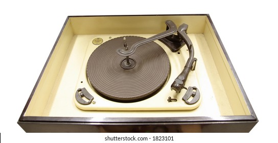 Isolated vintage vinyl  player