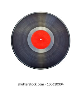 Isolated Vinyl Record (with clipping patch). High quality stock photo.