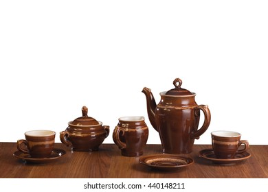 The isolated ware for coffee on a white background