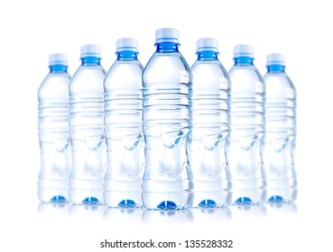 isolated water bottles