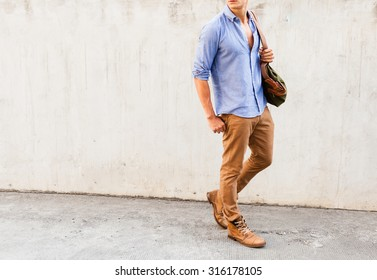 Isolated well dressed male fashion model.