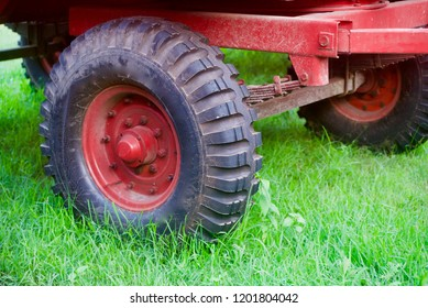 Isolated wheels of a tractor trailer unique photo