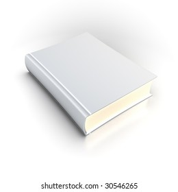 Isolated White Book