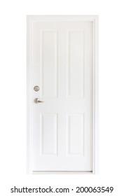 Isolated white door