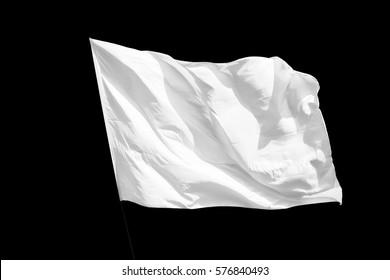 Isolated White flag