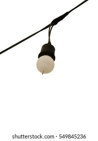 isolated white lamp