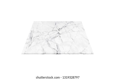 Isolated white marble floor on white background