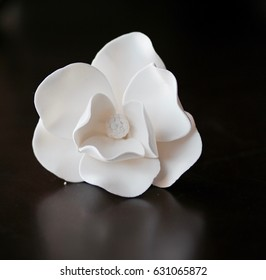 Sugar flowers images stock photos vectors shutterstock isolated white sugar flower on a solid brown background mightylinksfo