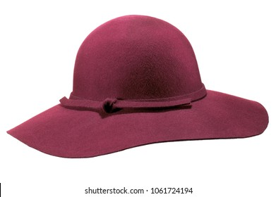 isolated wide brim hat