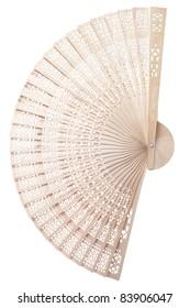Isolated wide open folding fan