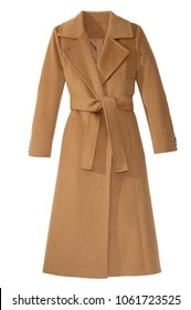isolated women's long coat