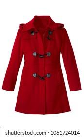 isolated women's long coat