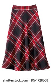isolated women's plaid a line skirt