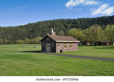 isolated wood chapel in south dakota