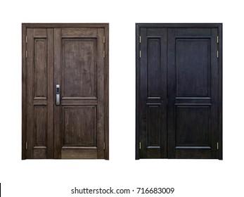isolated wood doors
