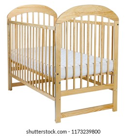 isolated wooden crib
