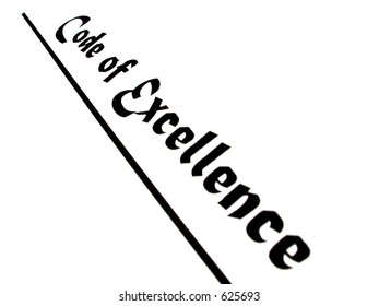 "isolated words ""code of excellence"""